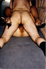 His cock buried deep and his balls slapping her ass